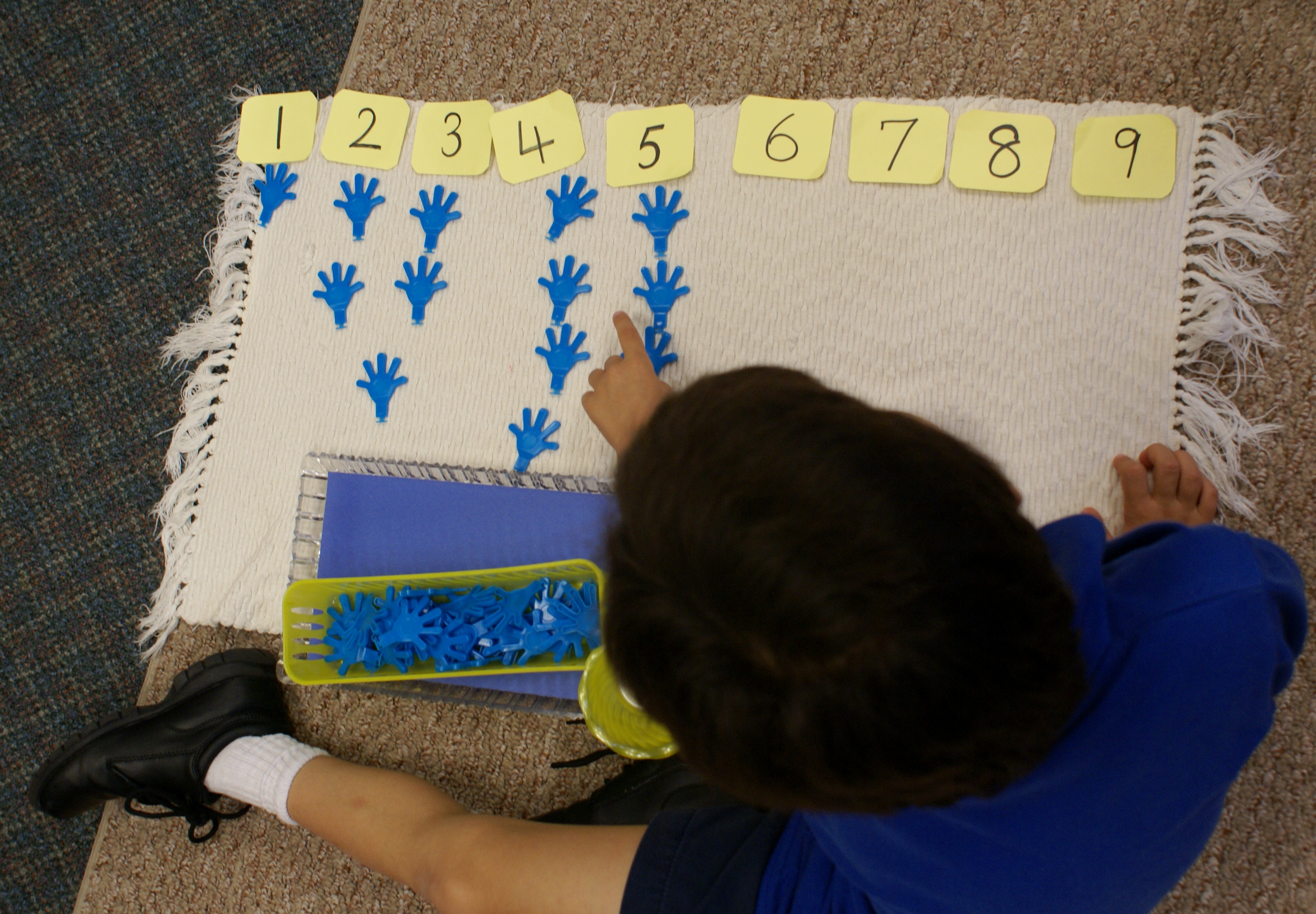 Number work in Van Gogh classroom